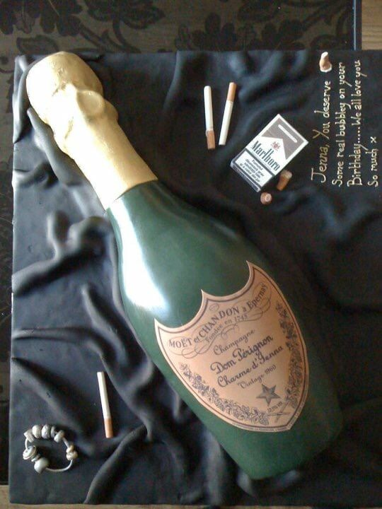 Champagne Bottle Cake