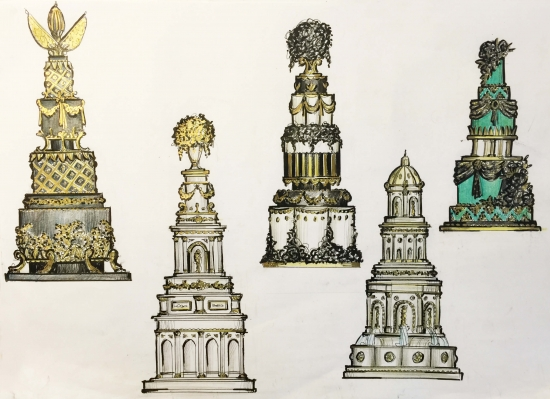 Wedding Cake Sketches