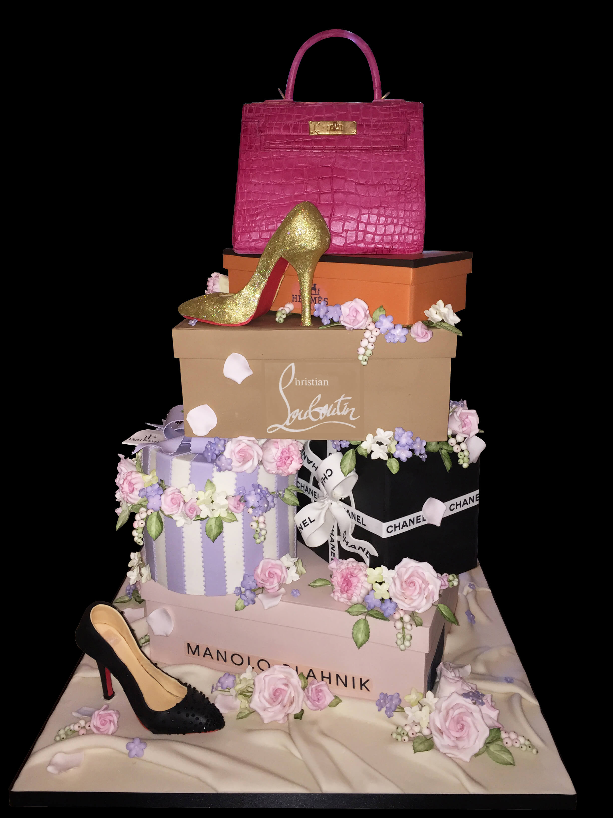 Handbags and shoes Cake